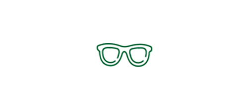 Glasses icon indicating glasses will likely be needed to see closer